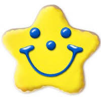 smiling star cookie